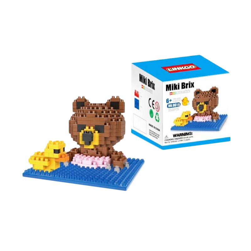 Funbrick Linkgo 9615 Bear N Rubber Duck Mainan Blok & Puzzle