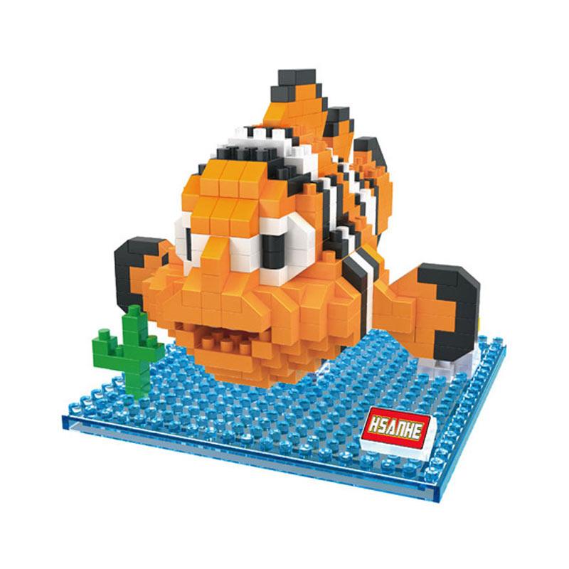 Funbricks Hsanhe 8233 Seaworld Nemo Mainan Blok & Puzzle