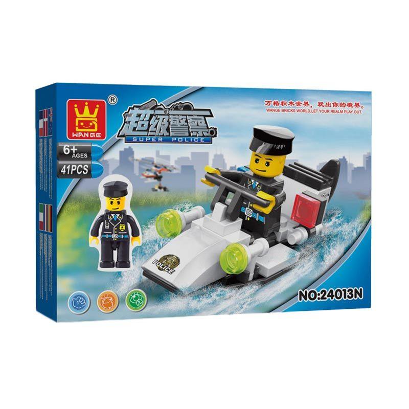 Bricks Wange 24013N Police Boat Mainan Blok & Puzzle