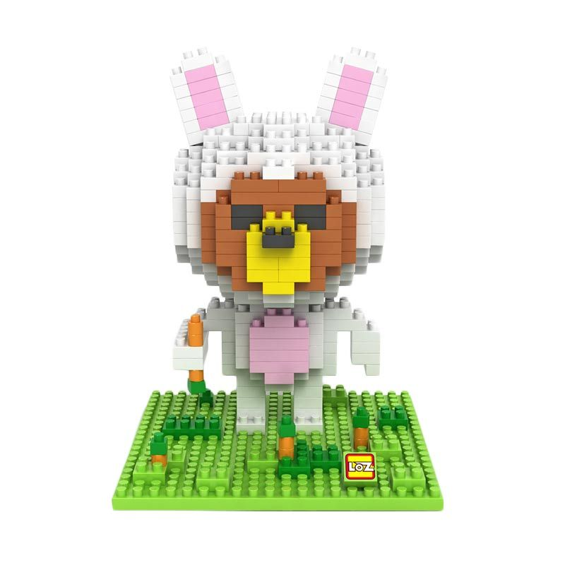 Loz Gift 9433 Rabbit Costume Mainan Blok and Puzzle