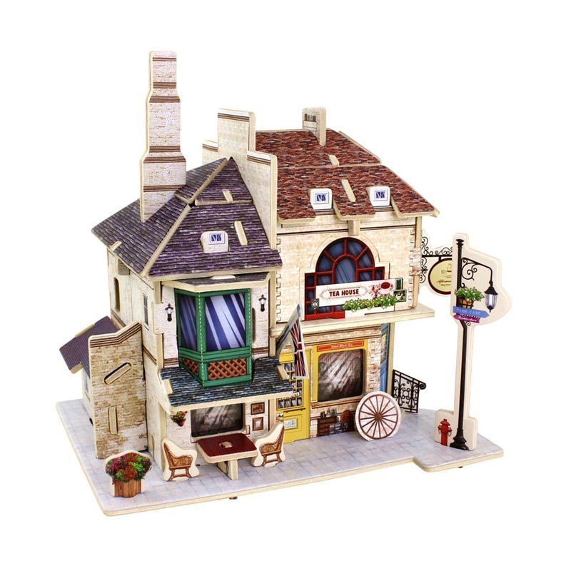 Robo F135 British Tea House Mainan Blok and Puzzle