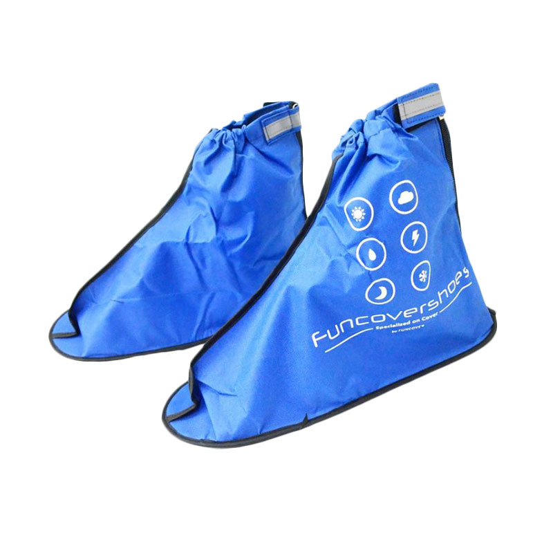 Funcover Jas Hujan Sepatu 2nd Generation - Biru [JAS3001-Biru-L]