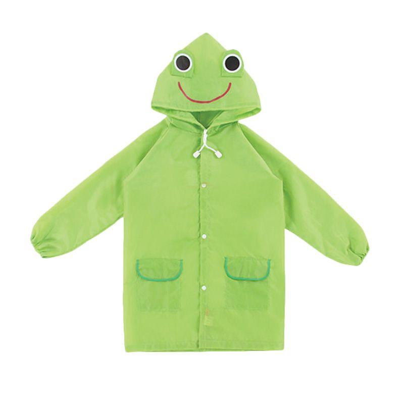 Funny Rain Coat Frog Green