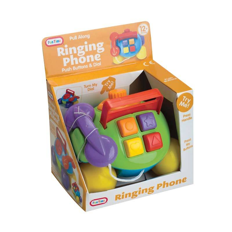 Funtime Pull Along Ringing Phone 5014