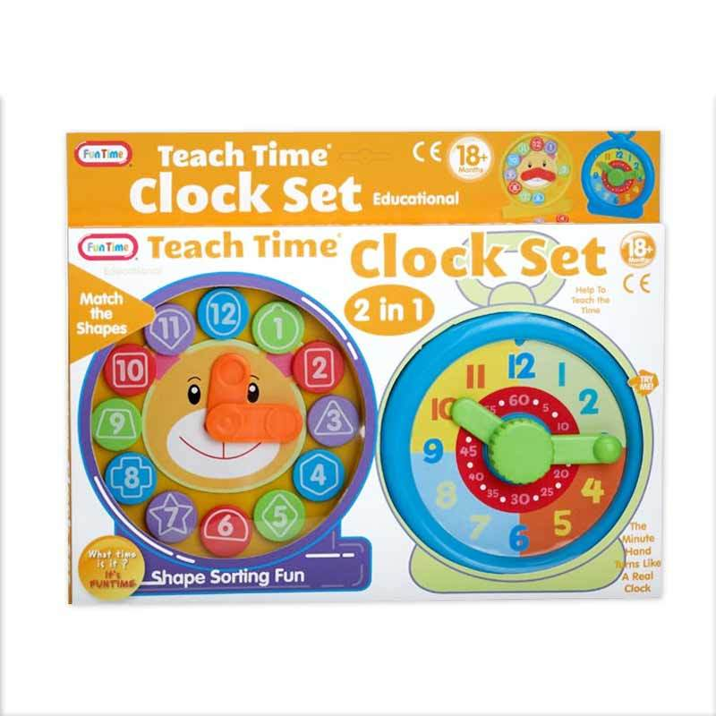 Funtime Teach Time Clock Set 5018
