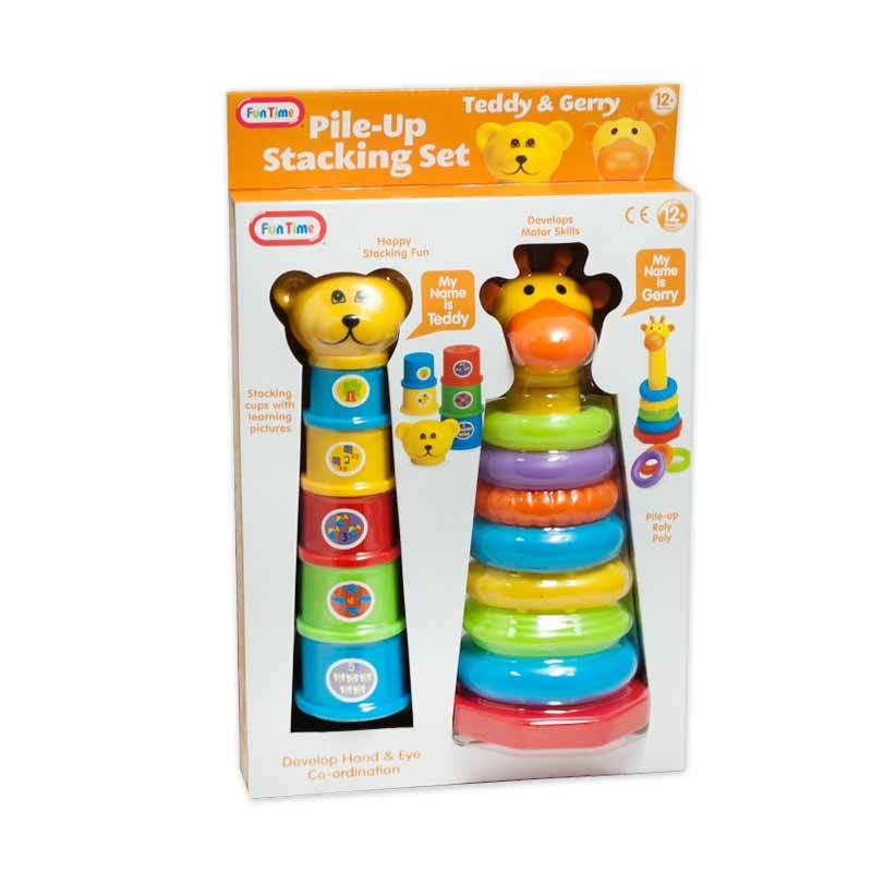 Funtime Teddy & Gerry Pile Up Stacking Set 5204