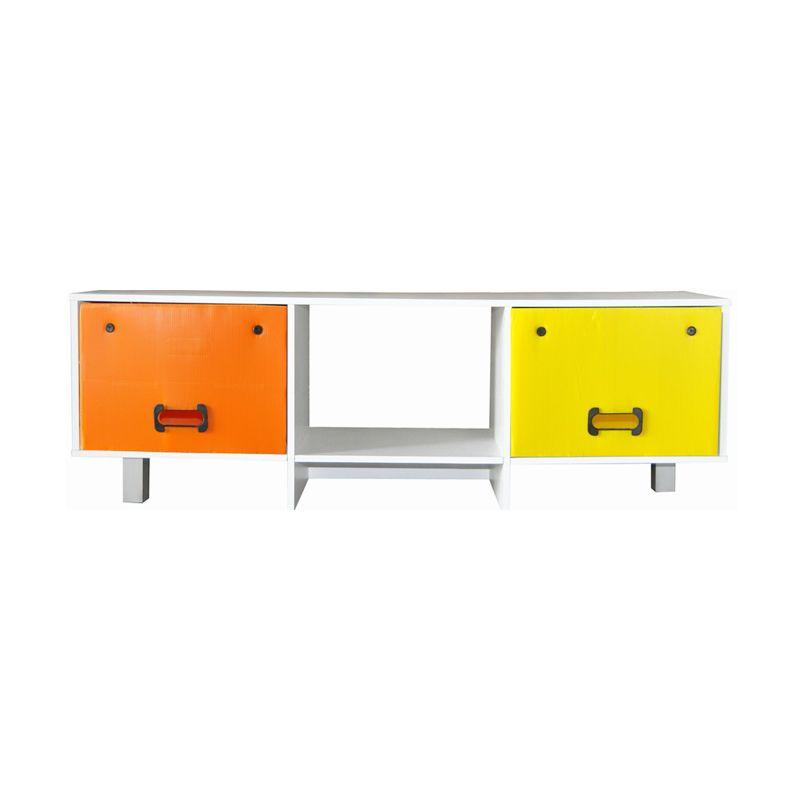 FURNIMART RSS262610-YO Kuning Orange Rak Serbaguna