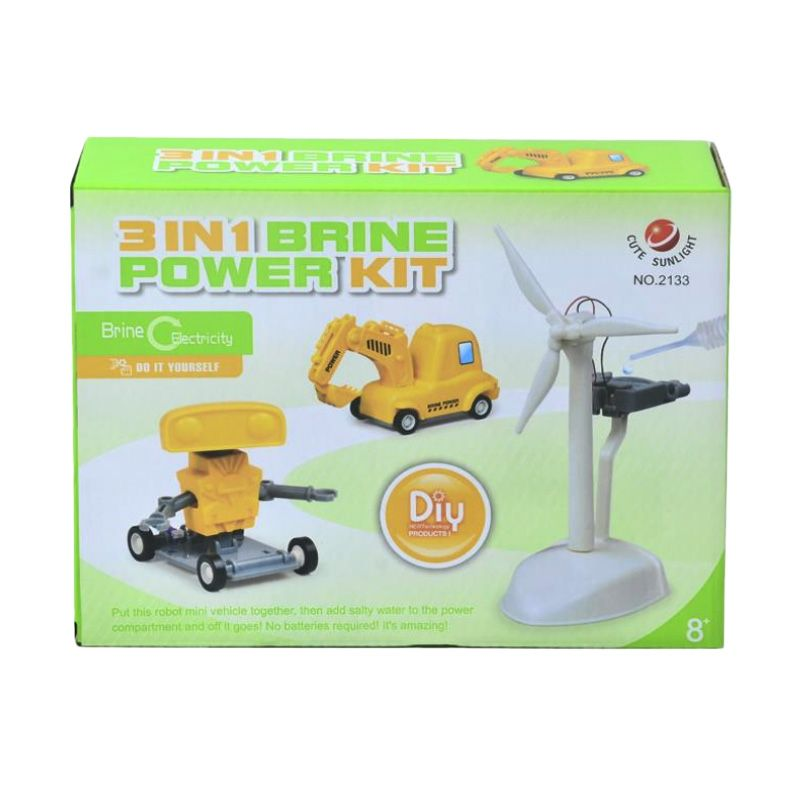 Brine Power 3 in 1 Salt Water Power Source Kuning Putih Mainan Anak
