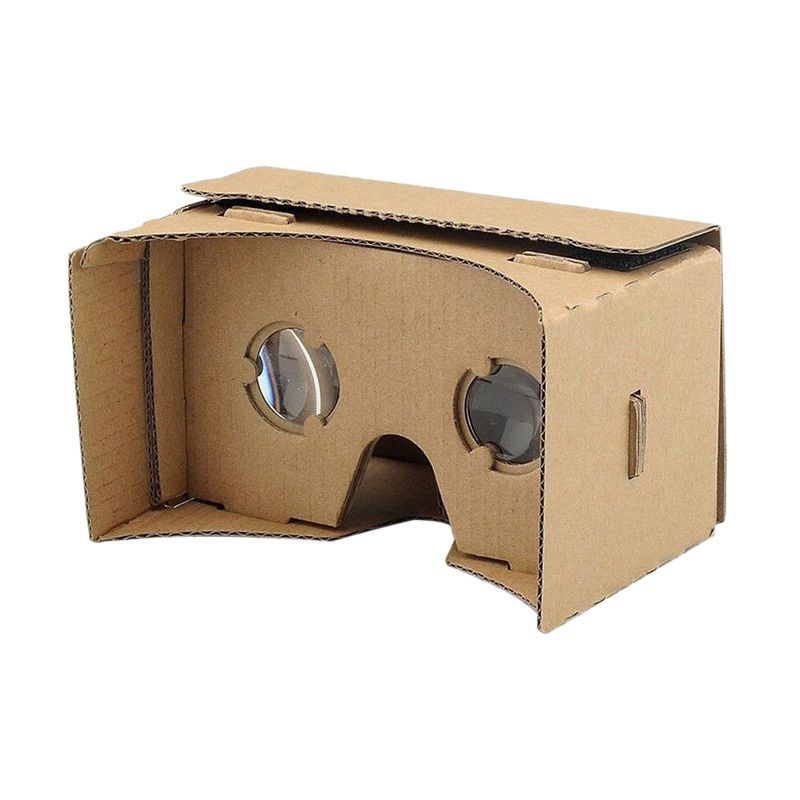 Cardboard Virtual Reality with Magnet and Lensa Kacamata 3D