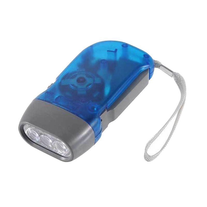 CCC Hand Pressing Flashlight Emergency Senter LED
