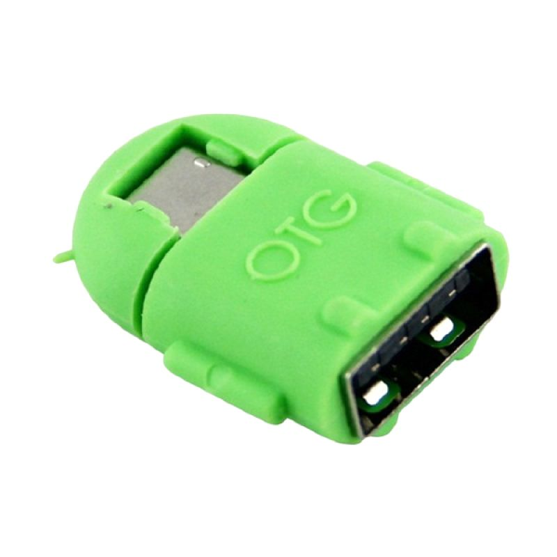 Jual OTG Android Robot Green USB Adapter Online