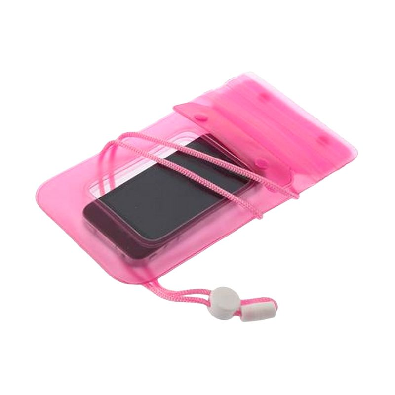 PVC Pink Waterproof Casing for Smartphone [up to 5.5 Inch]