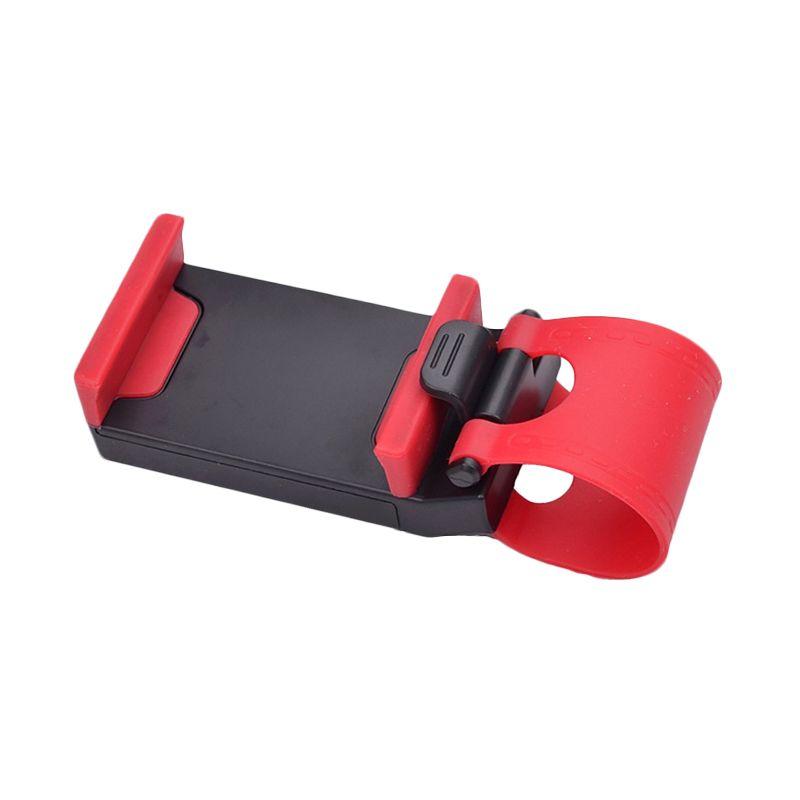 CCC Car Steering Wheel Black Red Phone Holder