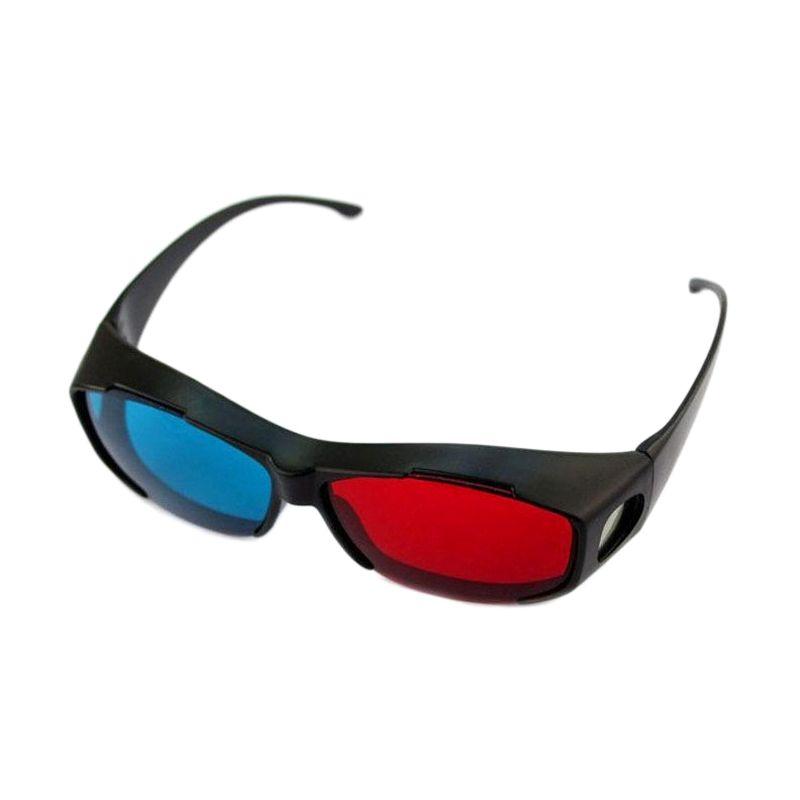 Nvidia Red Cyan Vision Glasses Kacamata 3D