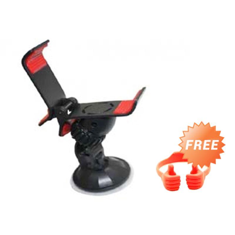 G-Smart Lazypod Holder Mobil Universal Hitam Car Holder + Free OK Stand