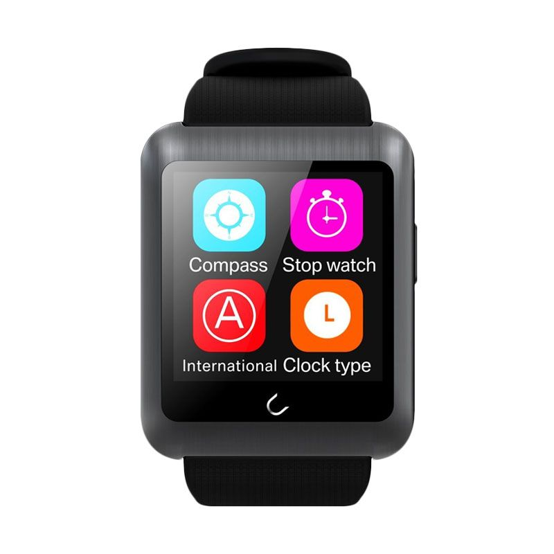 Onix U Watch U11 Bluetooth GSM Phone Watch Hitam Smartwatch