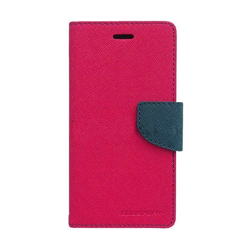 Mercury Fancy Diary Hotpink Navy Casing for Samsung Galaxy Ace 3
