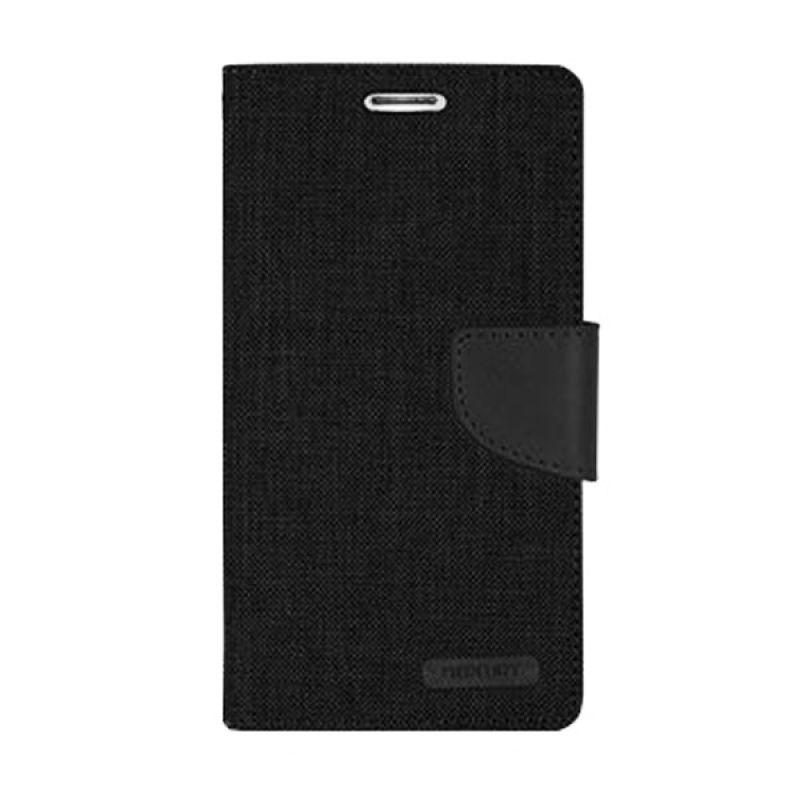 Mercury Goospery Canvas Diary Black Casing for Asus Zenfone 2 ZE551ML