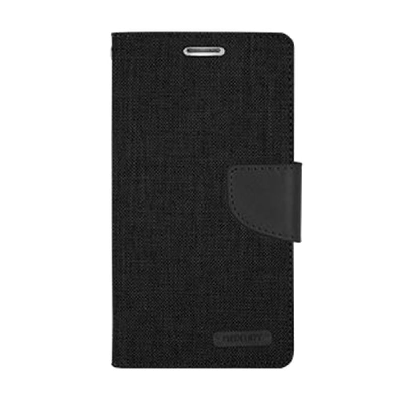Mercury Goospery Canvas Diary Black Casing for Galaxy Grand Prime