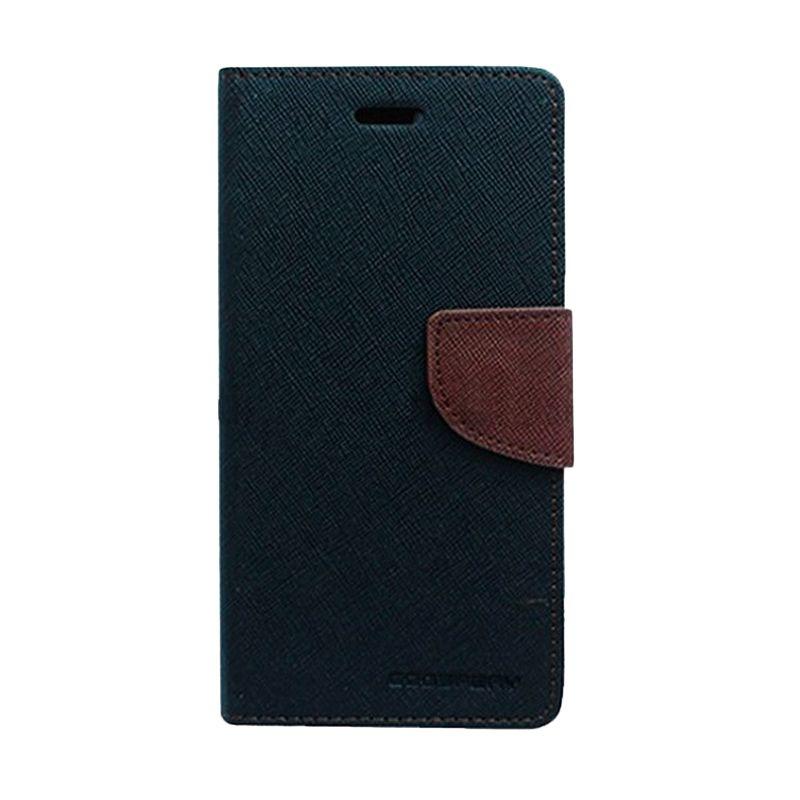 Mercury Goospery Fancy Diary Black Brown Casing for Samsung Galaxy A5