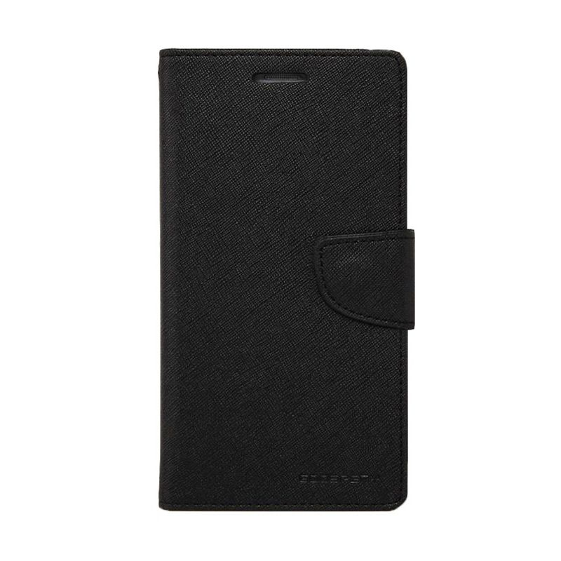 Mercury Goospery Fancy Diary Black Flip Cover Casing for Samsung Galaxy Note 4