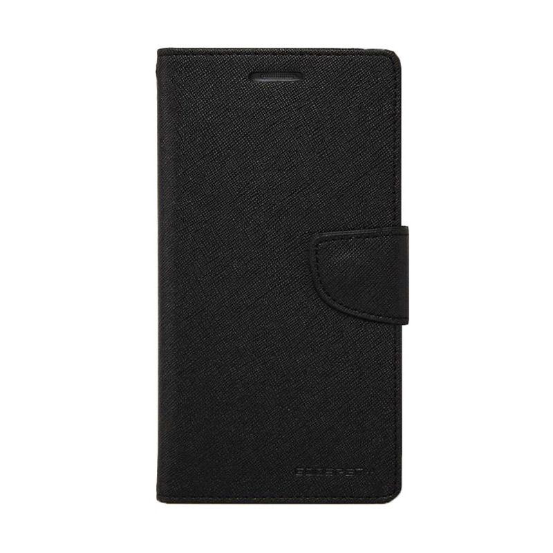 Mercury Goospery Fancy Diary Black Flip Cover Casing for Xiaomi Mi4i