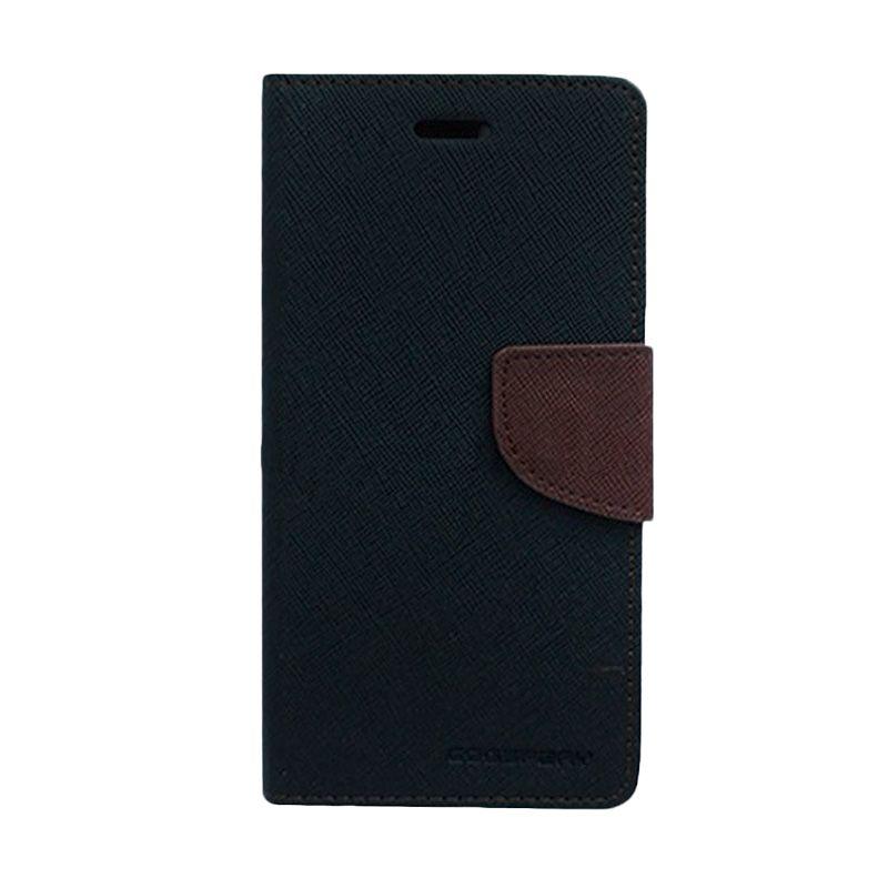 harga Mercury Goospery Fancy Diary Black Brown Flip Cover Casing for Samsung Galaxy A3 Blibli.com