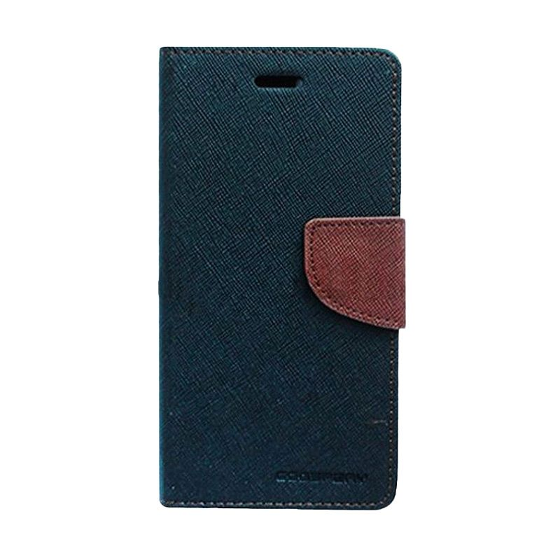 Mercury Goospery Fancy Diary Black Brown Flip Cover Casing for Samsung Galaxy S6