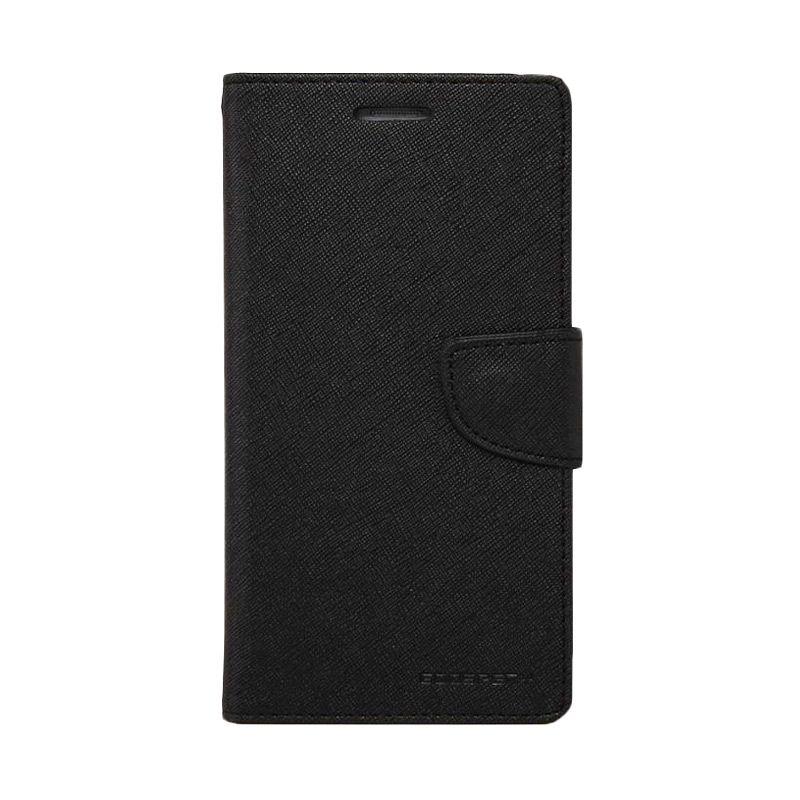 Mercury Goospery Fancy Diary Black Flip Cover Casing for Samsung Galaxy S6