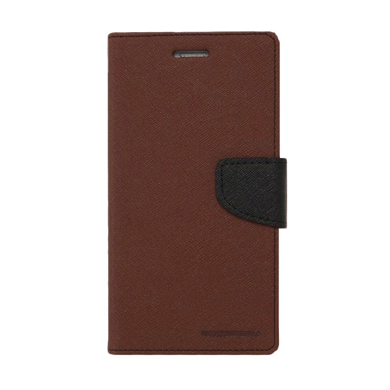 Mercury Goospery Fancy Diary Case Brown Black Casing for iPhone 6