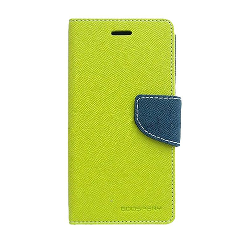 Mercury Goospery Fancy Diary Case Lime Navy Casing for Samsung Galaxy A5