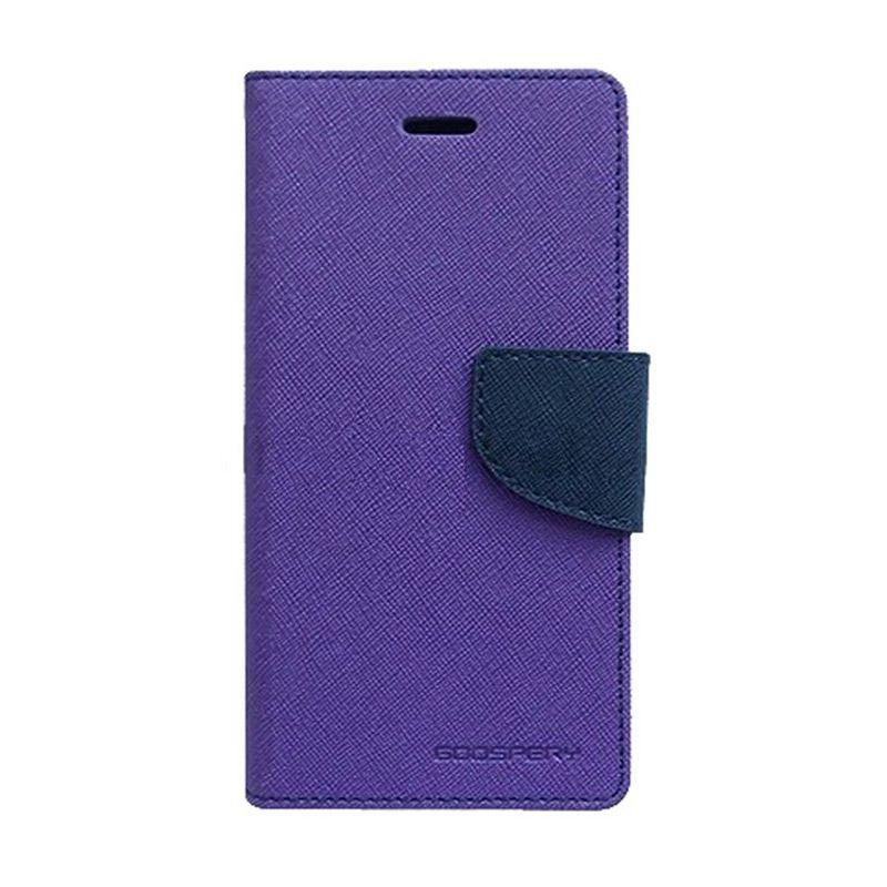Mercury Goospery Fancy Diary Purple Navy Flip Cover Casing for Galaxy Ace 3