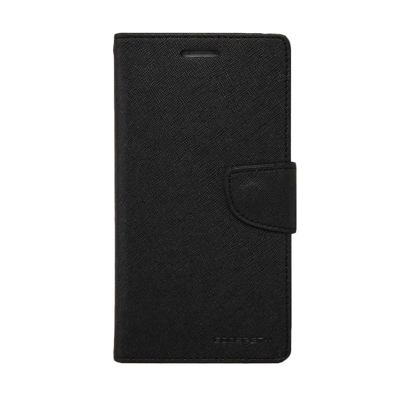 Mercury Goospery Fancy Diary Flip Cover Black Casing for Galaxy E5