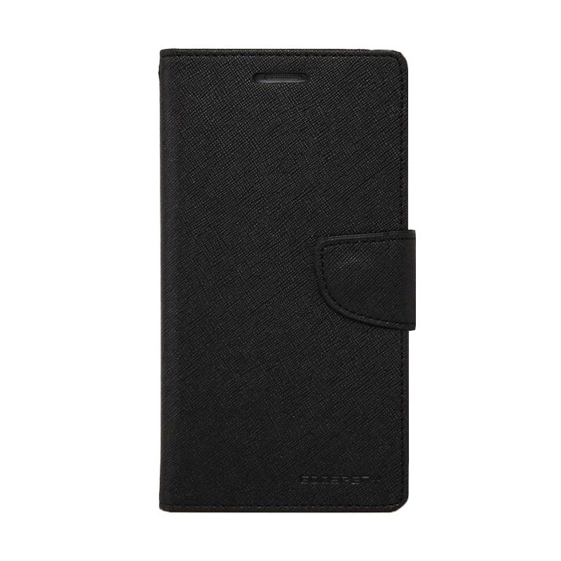 Mercury Goospery Fancy Diary Black Flip Cover Casing for LG G2