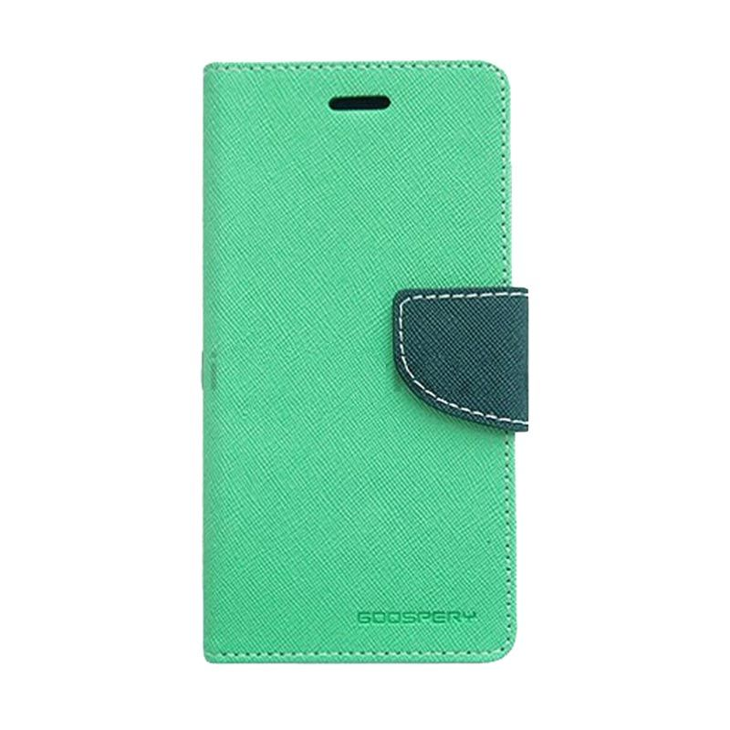 Mercury Goospery Fancy Diary Mint Navy Flip Cover Casing for iPhone 5 or 5s