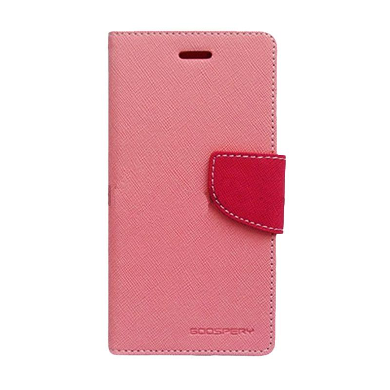 Mercury Goospery Fancy Diary Pink Hot Pink Flip Cover Casing for Galaxy Note 3