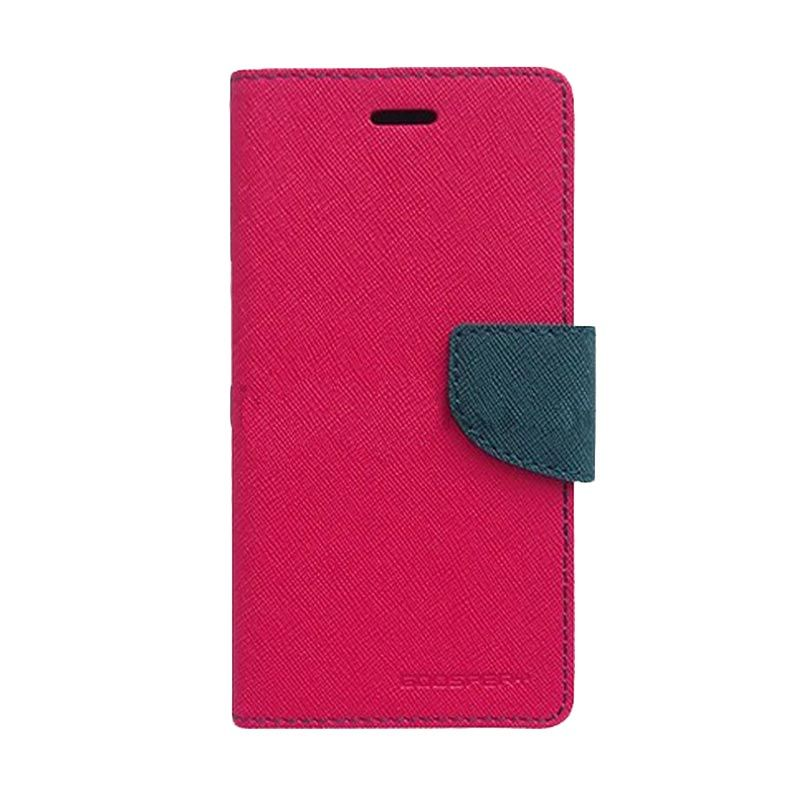 Mercury Goospery Fancy Diary Hot Pink Navy Casing for Samsung Galaxy A5