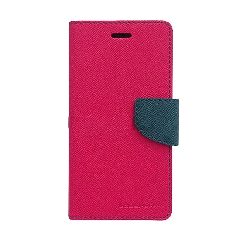 Mercury Goospery Fancy Diary Hot Pink Navy Casing for Galaxy Grand Duos