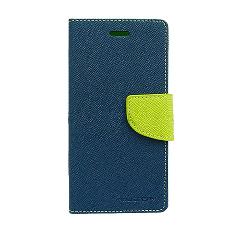 Mercury Goospery Fancy Diary Lime Navy Casing for Galaxy Grand Duos I9080/82/Neo