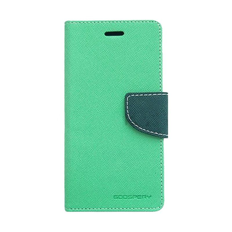 Mercury Goospery Fancy Diary Mint Navy Flip Cover Casing for Oppo Joy