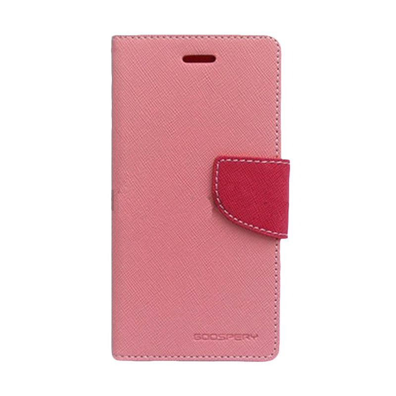 Mercury Goospery Fancy Diary Pink Hotpink Casing for Galaxy J1