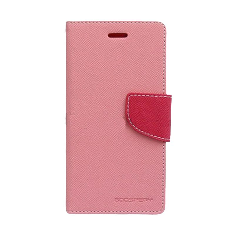 Mercury Goospery Fancy Diary Pink Hotpink Casing for Sony Xperia C