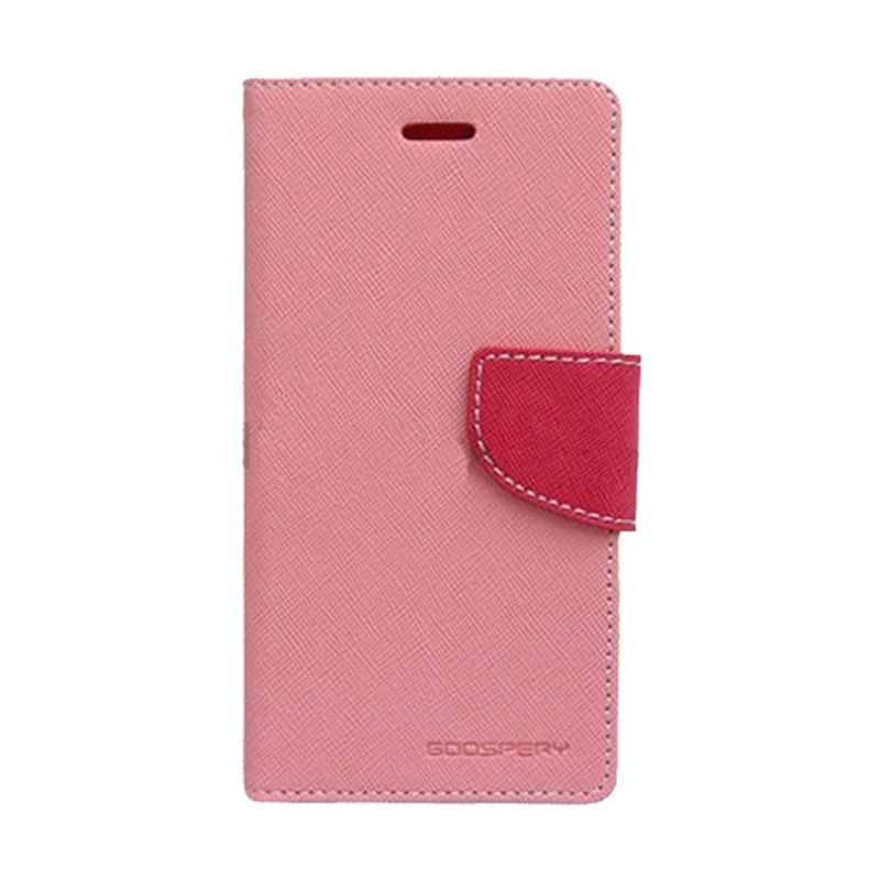 Mercury Goospery Fancy Diary Pink Hot Pink Flip Cover Casing for Oppo Joy