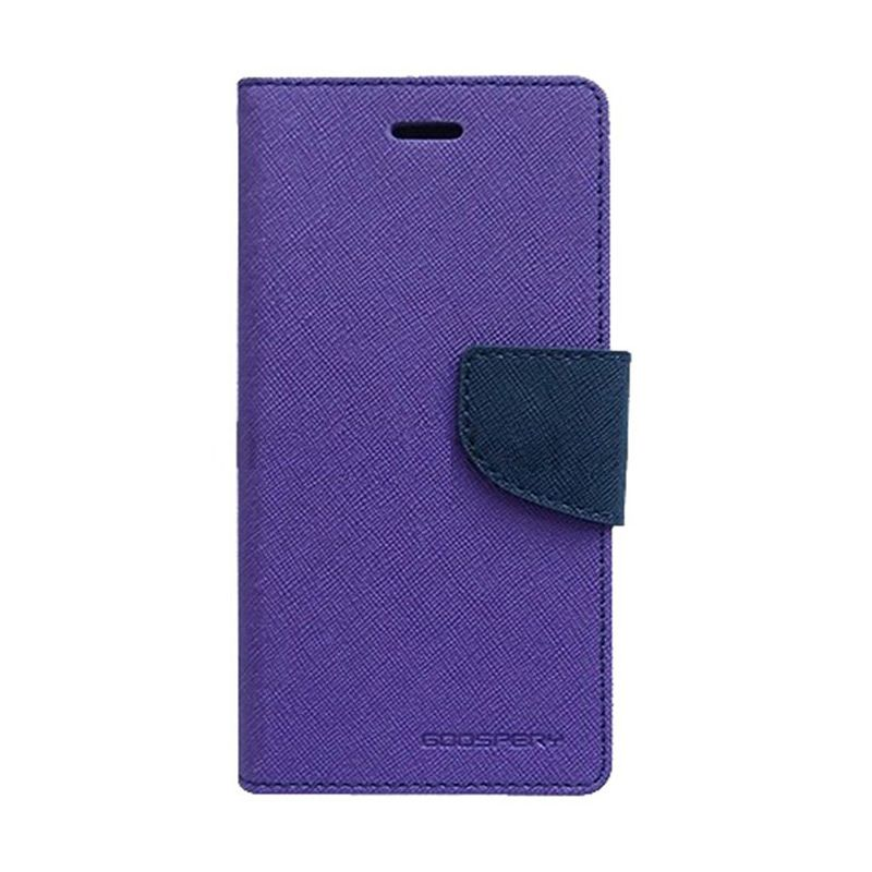Mercury Goospery Fancy Diary Purple Navy Flip Cover Casing for Sony Xperia C3