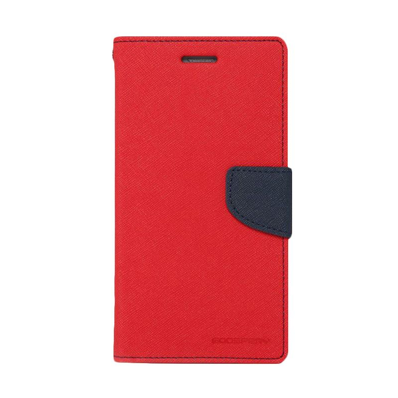 Mercury Goospery Fancy Diary Red Navy Casing for Galaxy Grand Duos