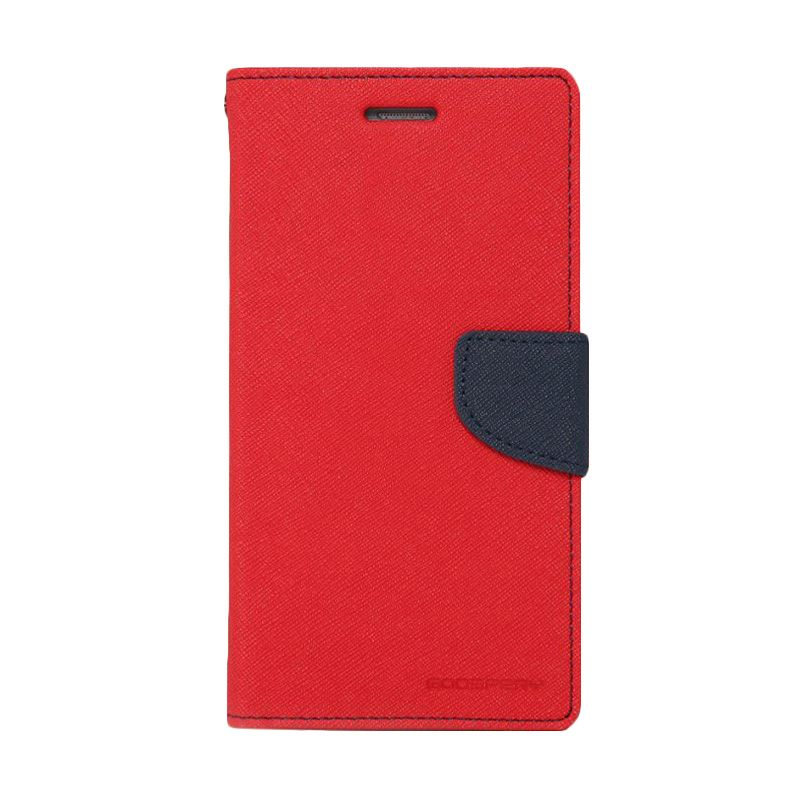 Mercury Goospery Fancy Diary Red Navy Casing for Xperia C