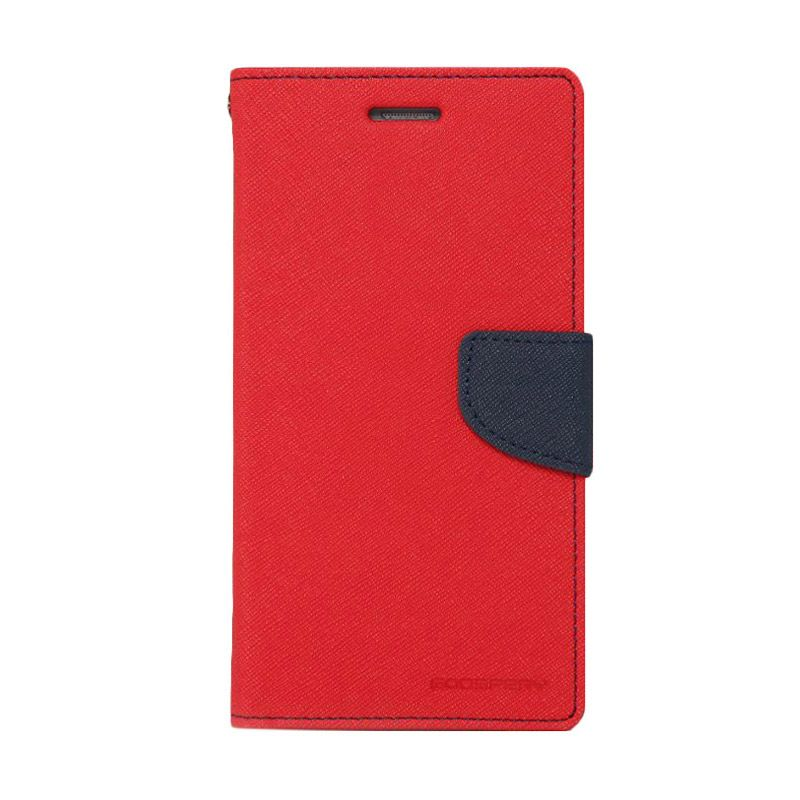 Mercury Goospery Fancy Diary Red Navy Flip Cover Casing for Galaxy Core Duos I8260 I8262