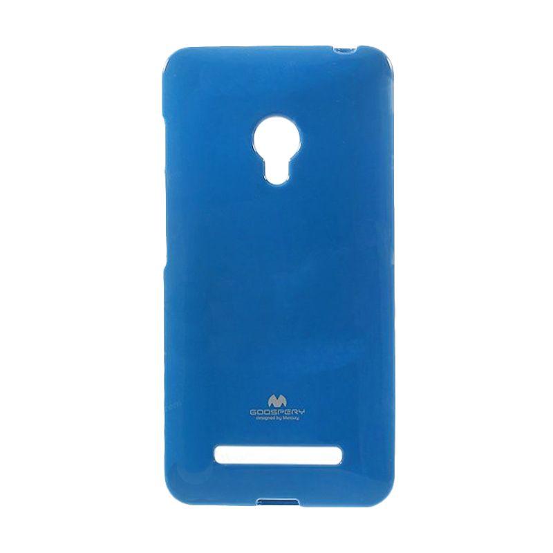 Mercury Goospery Jelly Case Blue Casing for Asus Zenfone 6 A600