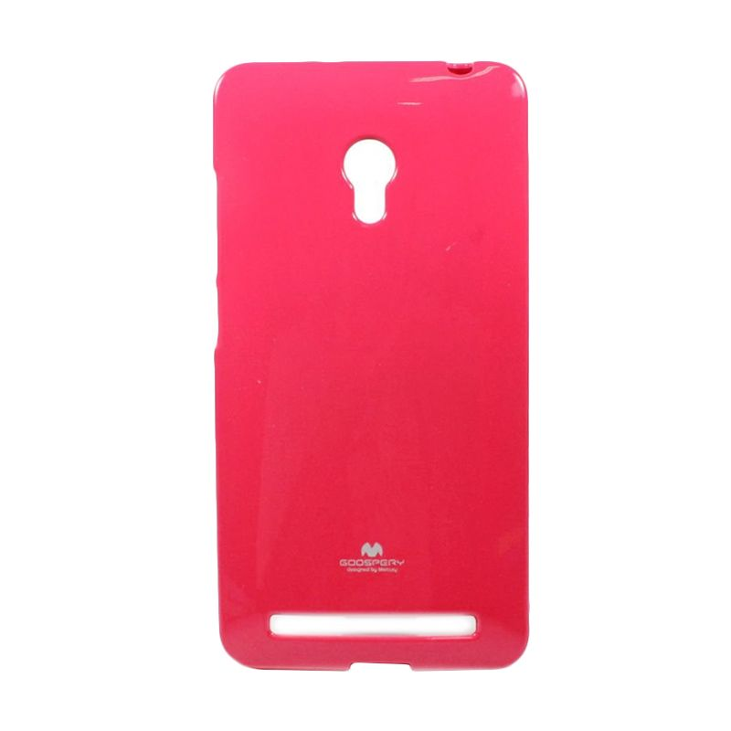 Mercury Goospery Jelly Case Hotpink Casing for Asus Zenfone 6 A600