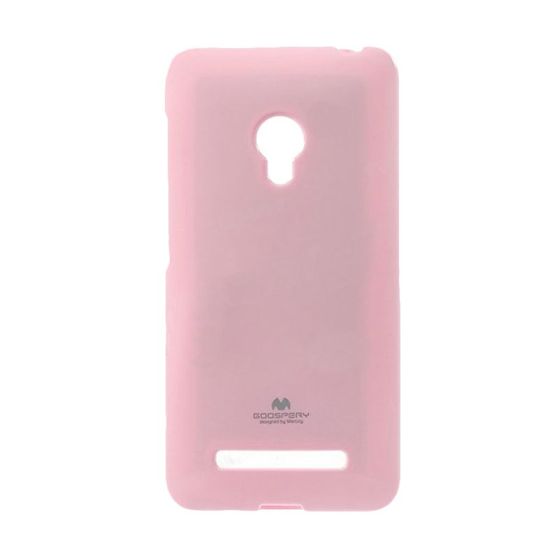 Mercury Goospery Jelly Case Pink Casing for Asus Zenfone 6 A600